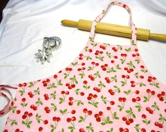 Retro Cherry Adult Apron