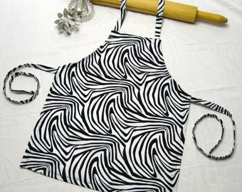 Zebra Child Apron