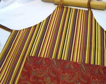 Classic Stripes Adult Apron
