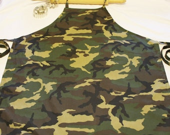 Camouflage Adult Apron