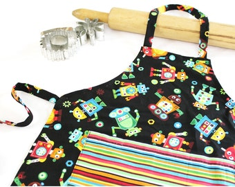 Robots Child Apron with Pocket