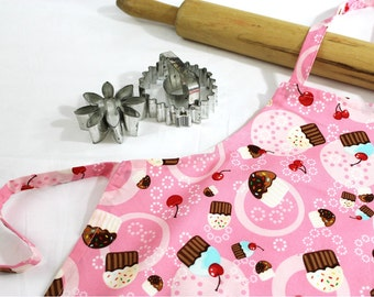 Tossed Cupcakes Child Apron