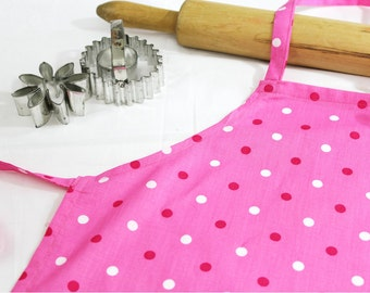 Pink and Red Dots Child Apron
