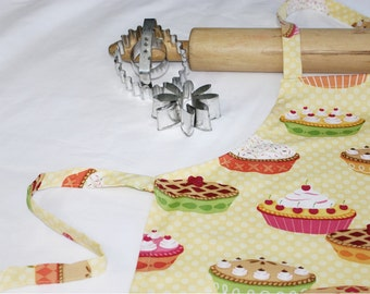 Pies on Yellow Child Apron