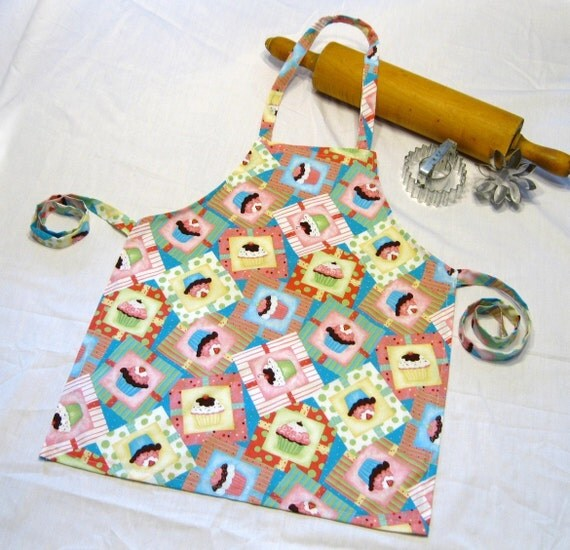 Frosted Cupcake Child Apron