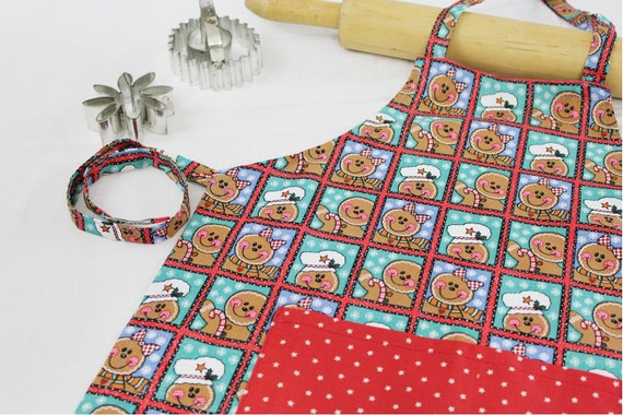 Gingerbread Cookies Child Apron