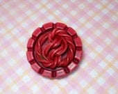 Vintage Pink Celluloid Coat  Button