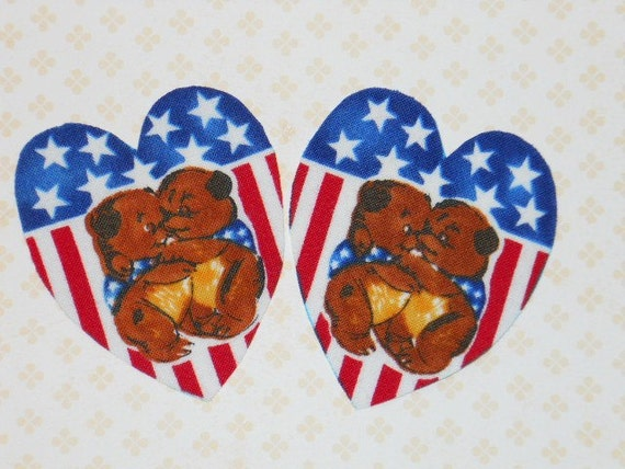 Sweetheart Bears Iron On Appliques