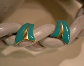 Blest Jewelry: 70s Teal Earrings