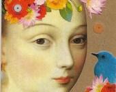 Tuileries - original collage bookmark