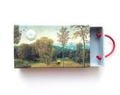 matchbox art - Trevelyan - landscape collage - altered matchbox