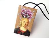 Demeter - handmade collage matchbox art
