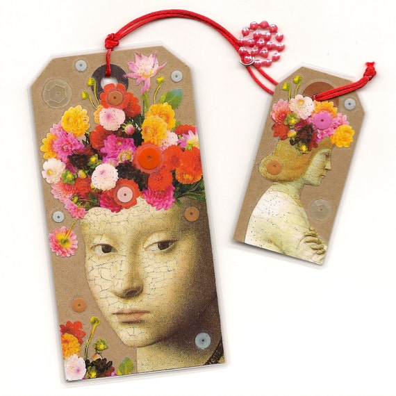 Titania & Oberon - bookmark art tag