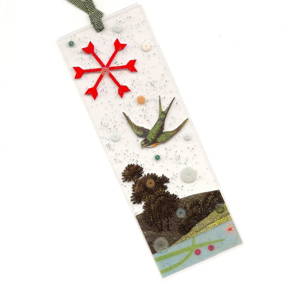 Skylark - laminated bird bookmark