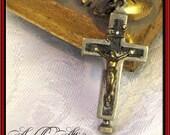 Italian Crucifix w/ Relic Compartment (Reliquary), Cross, Rare Collectible, Secret/Hidden Compartment