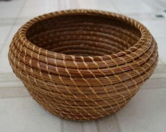 Pine needle basket  - Vase