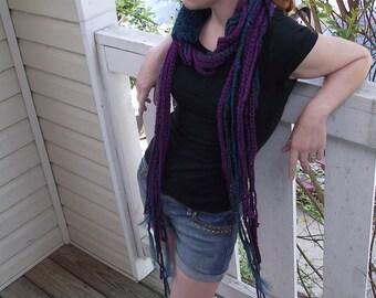 Not your Grandaddies Purp- Purple Crochet Scarf