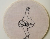 Circus Sideshow Performers : Johnny Eck The Amazing Half-Boy Embroidery.