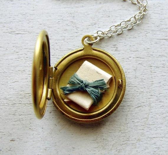 Custom Bridal Order for Emilie - Initial Jewelry - Personalized Locket Jewelry - Girlfriend, Fiance, Custom Secret Message Locket