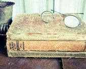 Three Hard Cover Vintage and Antique Books, Shabby Brown