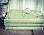 Three Hard Cover Antique Books - Green Riverside Literature Series, 51-52, 160, 135-136