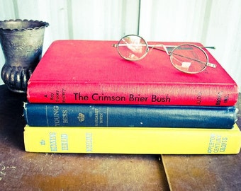 Three Hard Cover Vintage Books, Primary Colors