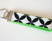 Lime Green & Black Key Fob