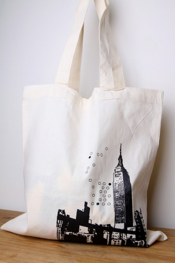 Tote bag Cotton New York City Screen printed