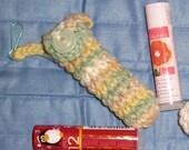Lip Balm Cozy Chapstick holder with lip balm