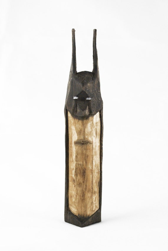 Aloof Hand Carved Wooden Batman