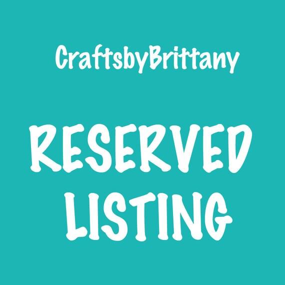 Reserved Listing for natashastpierre