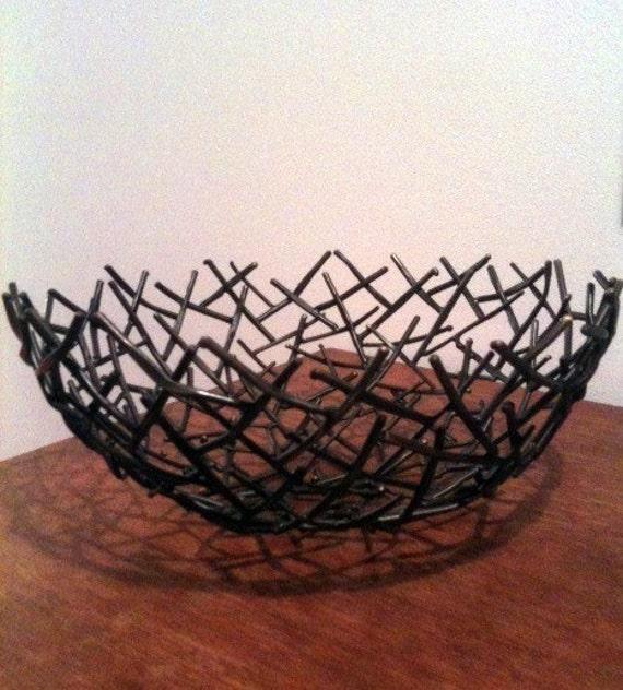 Large Bronze Michael Aram Thatch Design Bowl By Violetfan