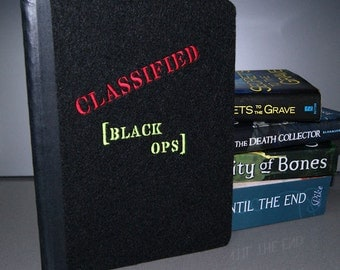 CLASSIFIED - Black Ops Embroidered Blank Journal Notebook MTCoffinz