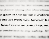 I Could Sit With You Forever Here. words. poem. black and white. fine art photograph.