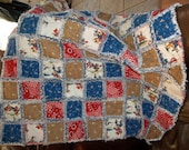 Cowboy and denim rag quilt