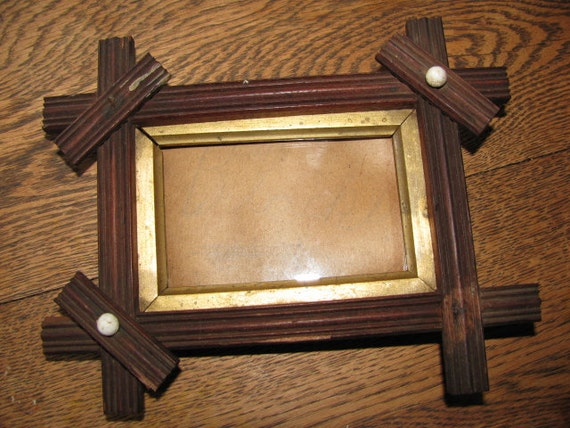 Antique Arts and Crafts Period Picture Frame Needs repair