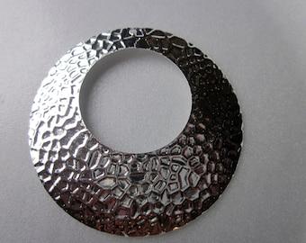 SALE - Silver Iron Pendants 50mm 4 Pendants