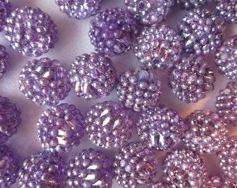 SALE - Purple Acrylic Beads 14-16mm 20 Beads