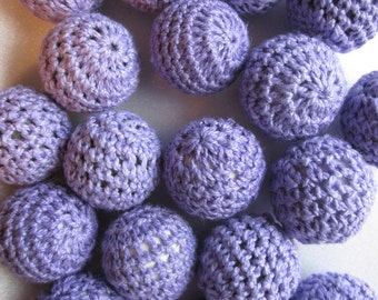 SALE - Lavender Woven Beads 22mm 8 Beads