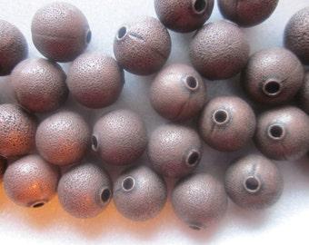 Brass Metal Beads 10mm 14 Beads
