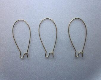 Brass Earring Hooks 20mm 20 Hooks