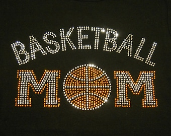 Women's rhinestone Basketball Mom shirt