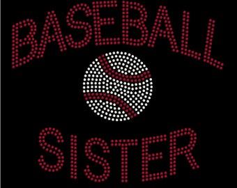 Girls Baseball Sister T-shirt