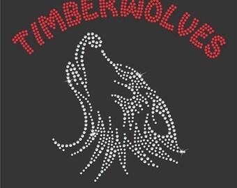 Girls Rhinestone Timberwolves tee