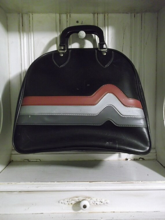 Cute Black Striped Bowling Bag - Don Carter or Brunswick