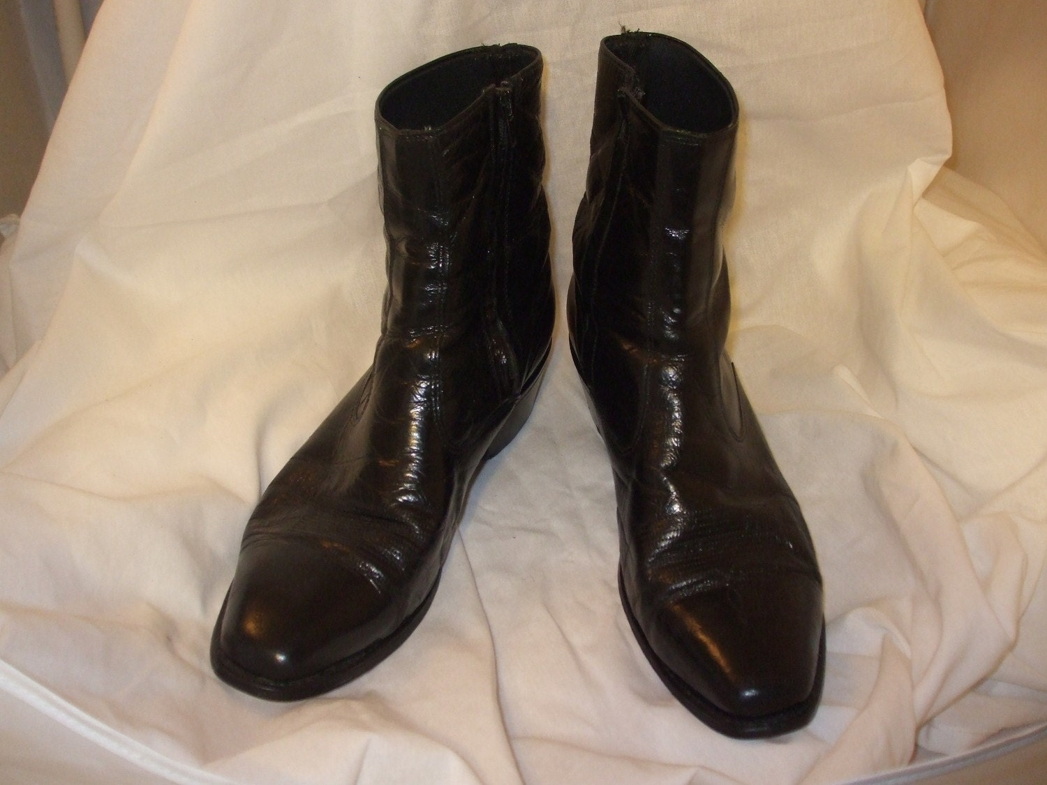 s vintage western ankle dress boots by chevysvintage