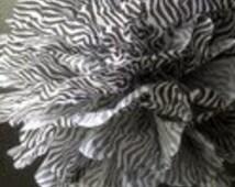 1 Zebra Tissue Paper Pom Pom, Animal Party, Safari Party, Zoo Themed Birthday, Paper Pom Poms, Party Decor, Party Supplies