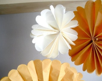 tissue paper pom poms...25 pom wheels...pom medallion...pick your color