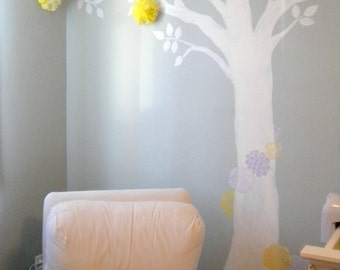 5 Tissue Paper Pom Pom Wall Flowers...choose your colors