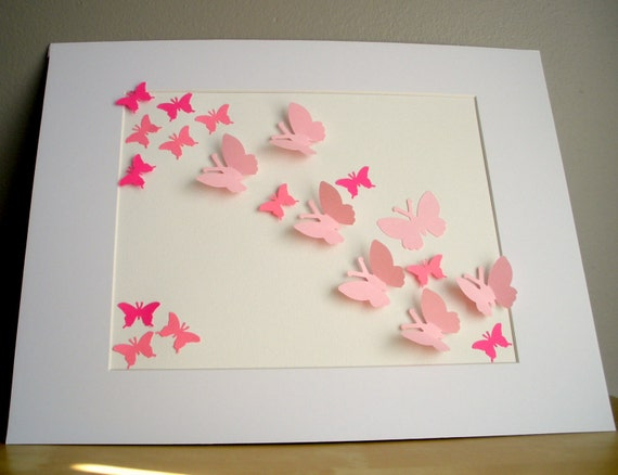 Butterfly Collage Girly Girl 11x14